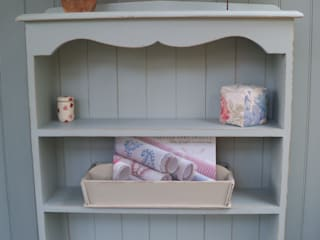 Hand Painted Bookcases and Cupboards Rectory Blue Living roomShelves
