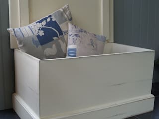 Hand Painted Storage Benches and Boxes Rectory Blue Living roomStorage