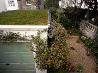 Garage with sedum roof Modern Garage and Shed by Organic Roofs Modern