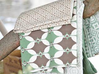 Cotton and linen hand screen printed fabrics:   by akin & suri