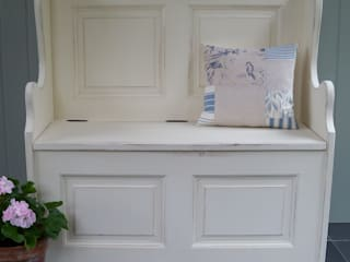 Hand Painted Storage Benches and Boxes Rectory Blue Corridor, hallway & stairs Storage