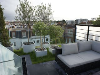 Fulham Roof Terrace:  Terrace by Organic Roofs