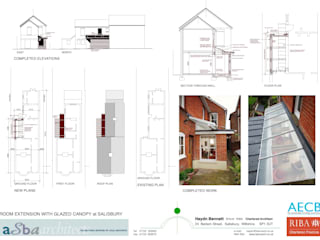 Marlborough Road - Extension to Single Room:  Living room by Haydn Bennett Chartered Architect
