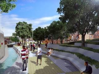 Projeto de Requalificação Urbana - Jardim Colombo / São Paulo: Casas  por Levisky Arquitetos | Estratégia Urbana,Moderno