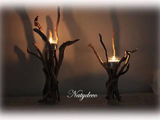 bougeoir en bois floté par Natydeco Éclectique