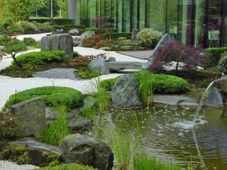 Japangarten Hannover - Kantinengarten:  Bürogebäude von Kokeniwa Japanische Gartengestaltung