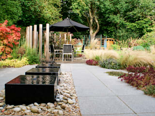 Contemporary Modern Family Garden Rosemary Coldstream Garden Design Limited Jardin moderne