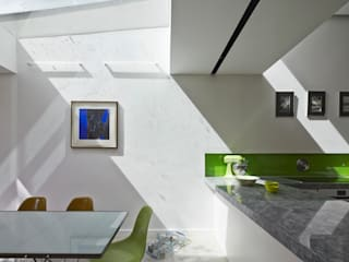 Skylight above dining space Modern dining room by Neil Dusheiko Architects Modern