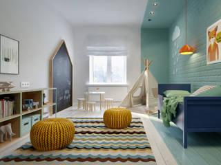 Интерьер OOD Детская комнатa в скандинавском стиле от INT2architecture Скандинавский