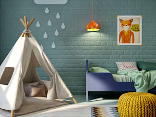 Dormitorios infantiles de estilo escandinavo de INT2architecture Escandinavo