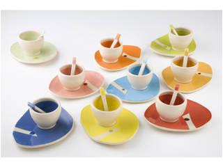 """Tasses à café de la collection """"pointillée"""":  de style  par LA CERAMIQUE DE FLO"""