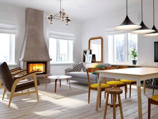 Salas de estilo escandinavo de INT2architecture Escandinavo