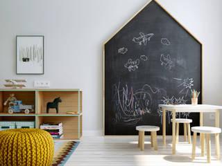 Skandynawski pokój dziecięcy od INT2architecture Skandynawski