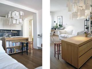 CASA D'ADDA: Soggiorno in stile in stile Moderno di BACS architettura