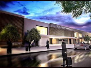 Agorà Mediterranea: Mostra 2.0. Rifunzionalizzazione della Mostra d'Oltremare di Napoli + nuovo albergo/spa 4 stelle: Hotel in stile  di vosa napolano architetti