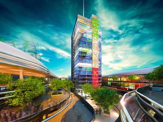 Distretto/Quartiere della Creatività Italiana a Shanghai: Complessi per uffici in stile  di vosa napolano architetti