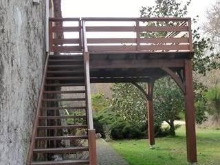 résidence secondaire : loft à la campagne Balcon, Veranda & Terrasse ruraux par Modularoom Rural