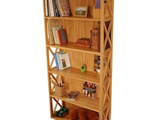 Stackable Bookcase, 5 Book Shelves: modern  by Finoak LTD, Modern