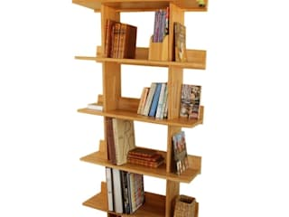Bookcase, 5 Book Shelves: modern  by Finoak LTD, Modern