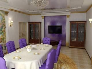 Дизайн столовой в классическом стиле: Столовые комнаты в . Автор – Цунёв_Дизайн. Студия интерьерных решений.