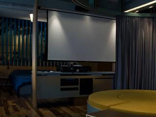 Interior | Apartamento - IV Salas multimídia modernas por ARQdonini Arquitetos Associados Moderno