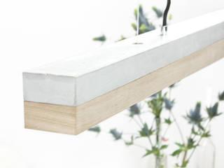 [C1]oak Pendelleuchte Beton Eiche minimalistisch von GANTlights Minimalistisch