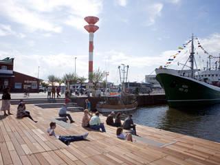 Hafenterrassen im Fischereihafen:  Veranstaltungsorte von POLA