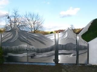 Nowoczesny ogród od Edelstahl Atelier Crouse: Nowoczesny