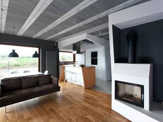 Beam & Block House: styl , w kategorii Salon zaprojektowany przez mode:lina™