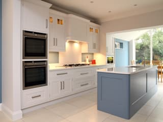 Hand painted bespoke kitchen in Hertfordshire Modern Kitchen by John Ladbury and Company Modern