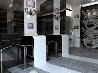 Bar In Corian: Bar & Club in stile  di Dadesign Interior Designer