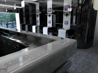Progetto di un bar in Corian Bar & Club moderni di Dadesign Interior Designer Moderno