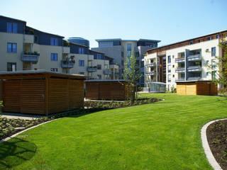 Solarsiedlung am Medienhafen in Düsseldorf:  Häuser von HGMB Architekten GmbH