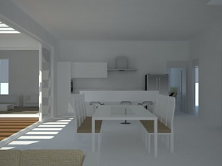 dining area:  Dining room by Neotecture