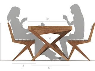Cris Cross Dining Set:   by Neotecture