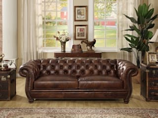 Designing Country Home with a Leather Sofa Locus Habitat Living roomSofas & armchairs
