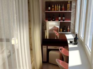 Спальня в классическом стиле с барной комнатой. Балкон и терраса в стиле минимализм от Цунёв_Дизайн. Студия интерьерных решений. Минимализм