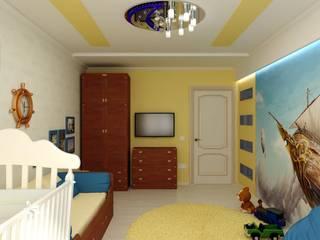 """Детская """"Летучий корабль"""": Детские комнаты в . Автор – Цунёв_Дизайн. Студия интерьерных решений."""