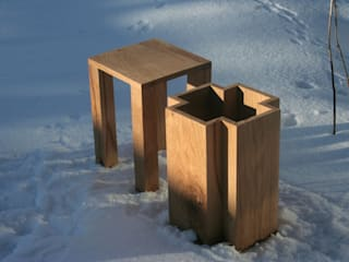 Hocker PAUL: modern  von werkvoll by Lena Peter,Modern