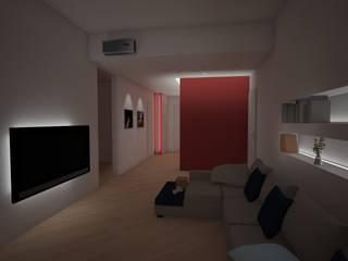 Appartamento privato - studi Soggiorno minimalista di Giordana Arcesilai Minimalista