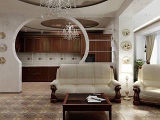 Классическая гостиная.: Гостиная в . Автор – Цунёв_Дизайн. Студия интерьерных решений.
