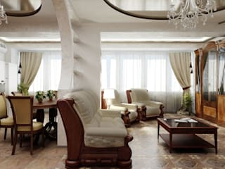 Классическая гостиная. Гостиная в классическом стиле от Цунёв_Дизайн. Студия интерьерных решений. Классический