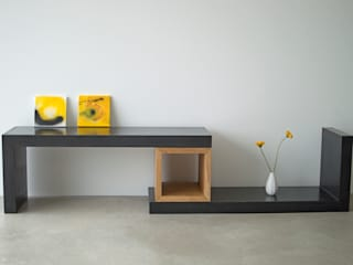concrete square wood / black edition:   von formdimensionen