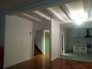 Reforma integral planta baja Cocinas de estilo rústico de RODEK arquitectura interior Rústico