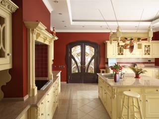 Интерьер квартиры в ЖК «Усадьба Трубецких»: Кухни в . Автор – Дизайн-бюро «ПАПИЛЛОН»