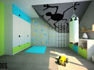 OES architekci Modern nursery/kids room