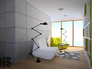 OES architekci Modern corridor, hallway & stairs
