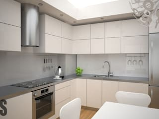 OES architekci Minimalist kitchen