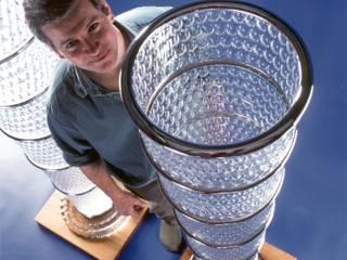 2000 eyes:  Corridor & hallway by Neil Wilkin Bespoke chandeliers & Glass Sculpture