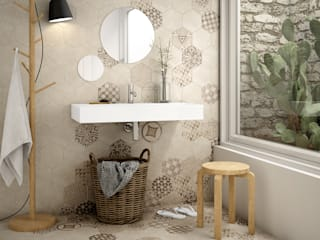 Rustic style bathrooms by Equipe Ceramicas Rustic
